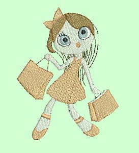 girls love to shop machine embroidery designs girls collection