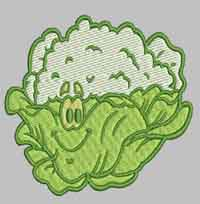Funny Vegetables Machine Embroidery Designs Flowers And Fruit