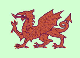 Welsh Dragon Machine Embroidery Design